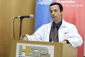 Enrique Montalva en su primera alocucion como Director del Hospital de Coquimbo
