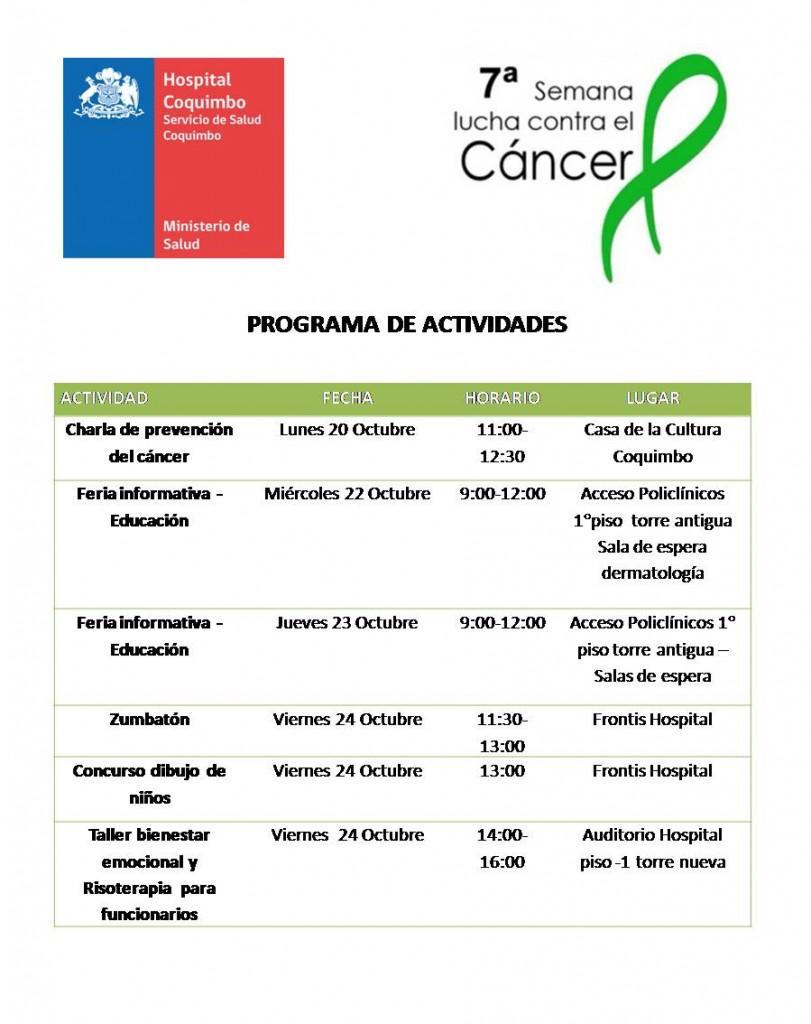 Programa Semana Cancer 2014 jpeg